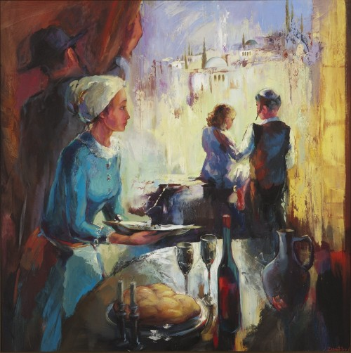 SHABAT IN JERUSALEM (WOMAN) - 38X38